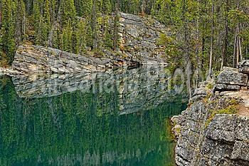 Reflections in Horseshoe Lake, Jasper, Alberta, Canada