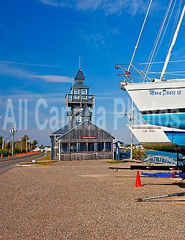 Sailboats and Restaurant, Bonaventure, Quebec, Canada
