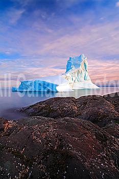 Iceberg off Goose Cove, Newfoundland, Canada