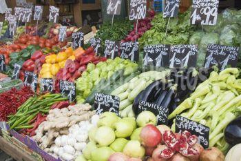 vegetables in a market, vienna, austria