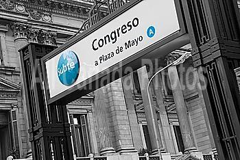 Subway Entrance Of Congreso (A Plaza De Mayo); Buenos Aires, Argentina