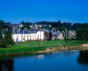 Inistioge village and the River Nore, County Kilkenny, Ireland