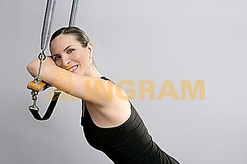 Cadillac trapeze pilates woman portrait fitness sport beautiful girl